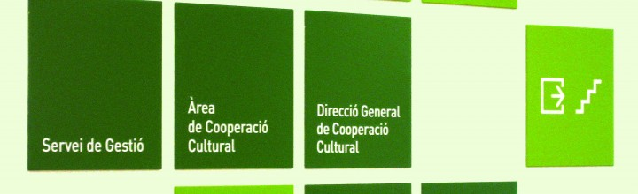 Senyalètica Conselleria Cultura Generalitat de Catalunya